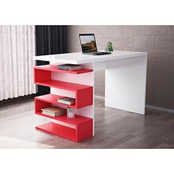 Snake Çalışma Masası - Beyaz / Kırmızı