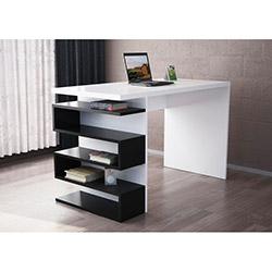 Snake Çalışma Masası - Beyaz / Siyah
