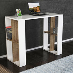 Cool Çalışma Masası - Beyaz / Ceviz