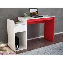 Crack Çalışma Masası - Beyaz / Kırmızı