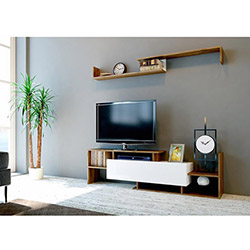 Evdekimoda Dream Tv Ünitesi - Beyaz / Ceviz