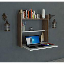Evdekimoda Laptop Masası - Beyaz / Ceviz