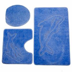 Flora Mono 3'lü Klozet Takımı - Mavi