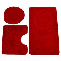 Flora Mono 3'lü Klozet Takımı - Kırmızı