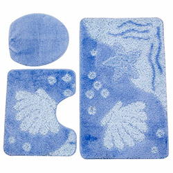 Flora Macro 3'lü Klozet Takımı - Mavi