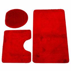 Flora Soft 7005 3'lü Klozet Takımı - Kırmızı