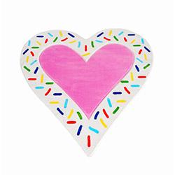 İvi Şeker Kalp Çocuk Halısı - 100x150 cm