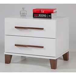 Comfy Home Art Komodin - Parlak Beyaz