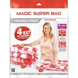 Magic Saver Bag 03 5'li Vakumlu Poşet Seti