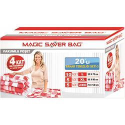 Magic Saver Bag 03 20'li Vakumlu Poşet Seti