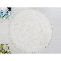 İrya Genny Örgü Dantelli Banyo Paspası (Ekru) - 80x80 cm