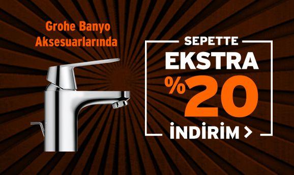 Grohe Banyo Aksesuarlarında %20 İndirim