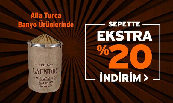 Alla Turca Banyo Ürünlerinde %20 İndirim