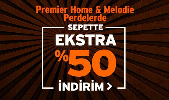 Premier Home ve Melodie Perdelerde Sepette %50 İndirim