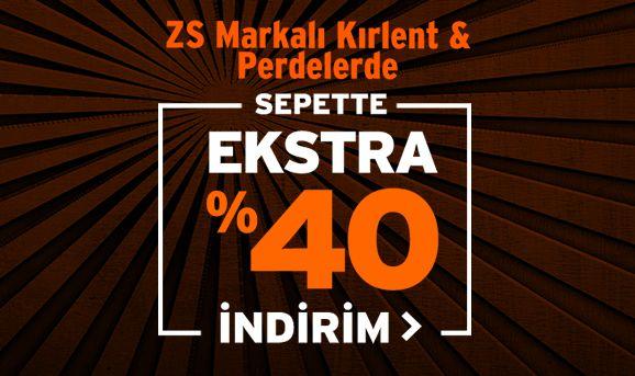 ZS Marka Kırlent ve Perdelerde Sepette %40 İndirim