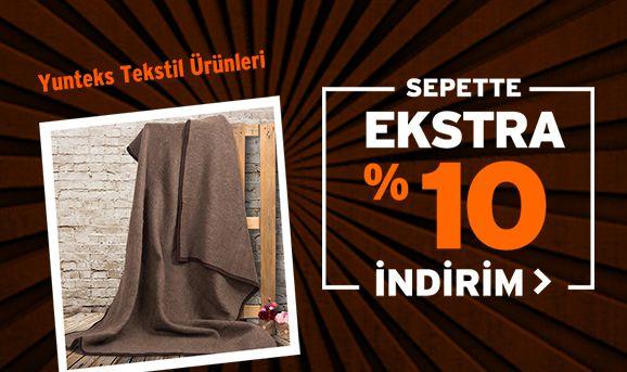 Yünteks Tekstil Ürünlerinde Sepette %10 İndirim