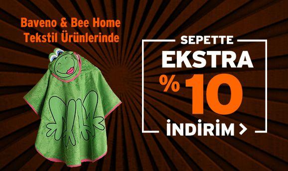 Baveno ve Bee Home Tekstil Ürünlerinde Sepette %10 İndirim