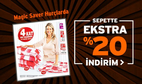 Magic Saver Hurçlarda Sepette %20 İndirim