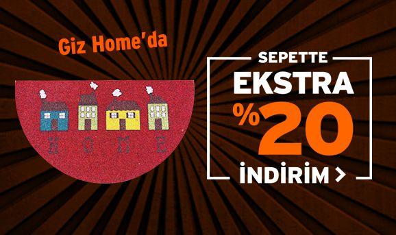 Giz Home Dekorasyon Ürünlerinde Sepette %15 İndirim