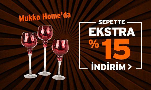 Mukko Home Dekorasyon Ürünlerinde Sepette %15 İndirim