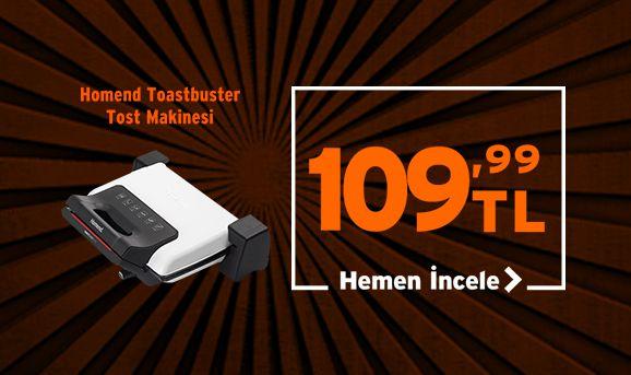Homend 1316 Toastbuster Tost Makinesi 109,99 TL