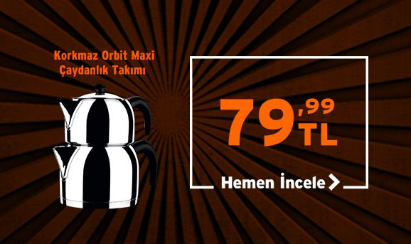 Korkmaz Orbit Çaydanlık Takımı 79,99 TL