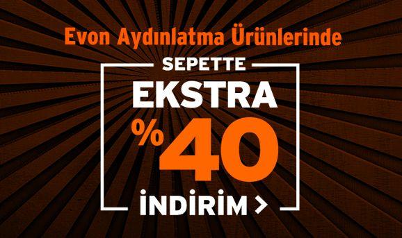 Evon Aydınlatma Ürünlerinde Sepette %40 İndirim