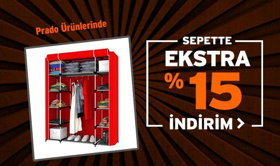 Prado Ürünlerinde Sepette %15 İndirim