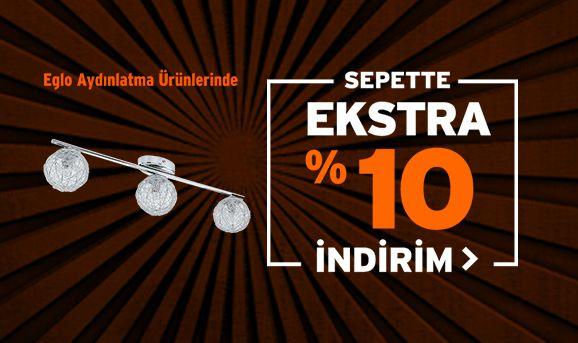 Eglo Aydınlatma Ürünlerinde Sepette %10 İndirim