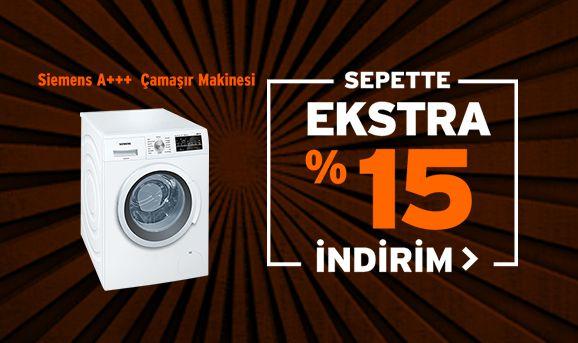 Siemens WM12T461TR A+++ 1200 Devir 8 kg Çamaşır Makinesi Sepette %15 İndirim