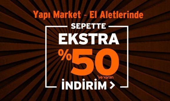 Elektrikli El Aletlerinde Sepette %50'ye Varan İndirim