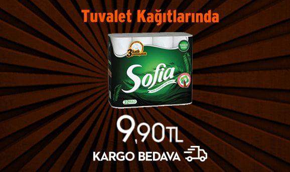 12'li Sofia Tuvalet Kağıdı 9,99 TL + Kargo Bedava