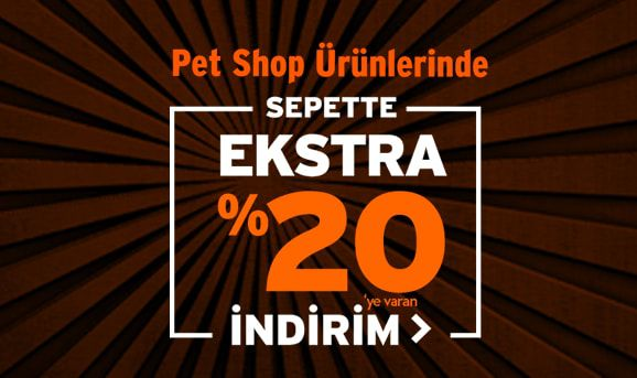 Petshop Ürünlerinde Sepette %20 İndirim