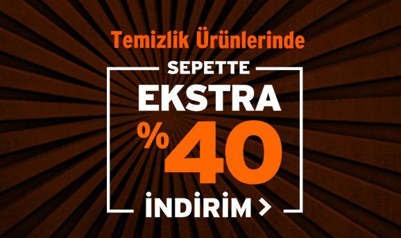 Temizlik Ürünleri Sepette %40 İndirim