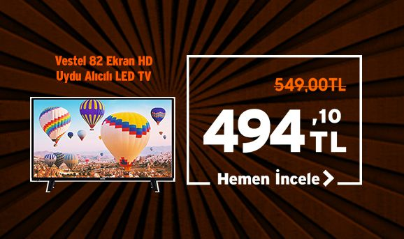 Vestel 32HB5000 82 Ekran HD Uydu Alıcılı LED TV Sepette Ekstra %10 İndirim