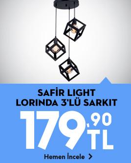 /safir-light-lorinda-3lu-sarkit-siyah-lum3154/p/719842