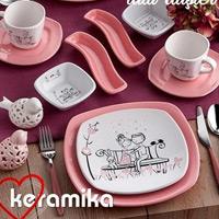 Keramika Tatlı Düş 14 Parça Kahvaltı Seti