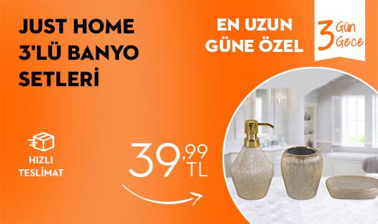 Just Home 3'lü Banyo Setleri 39,99 TL