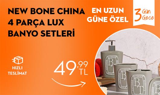 New Bone China 4'lü Banyo Setleri 49,99 TL