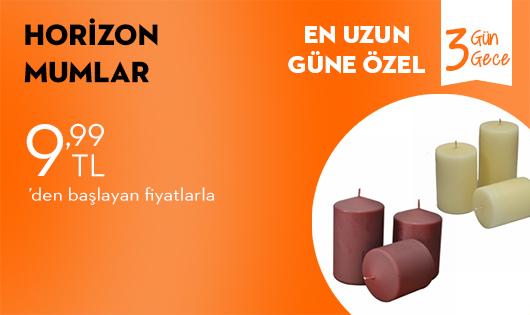 Horizon Mumlar 9,99 TL'den Başlayan Fiyatlarla