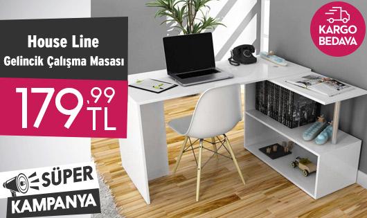 House Line Fonksiyonel Gelincik Çalışma Masası 179,99 TL
