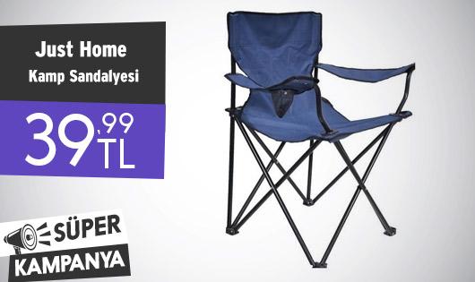 Just Home Katlanır Kamp Sandalyesi 39,99 TL