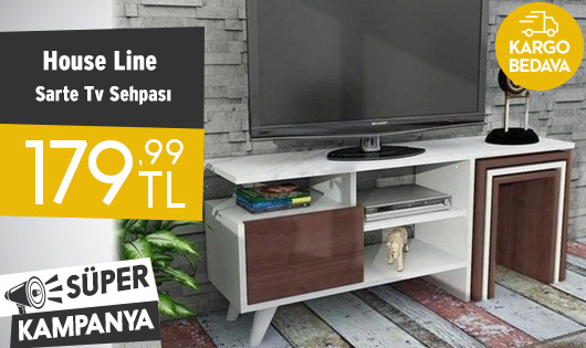 House Line Sarte Tv Sehpası 179,99 TL