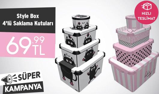 Style Box 4'lü Saklama Kutuları 69,99 TL