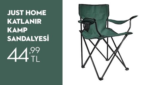 Just Home Katlanır Kamp Sandalyesi 44,99 TL