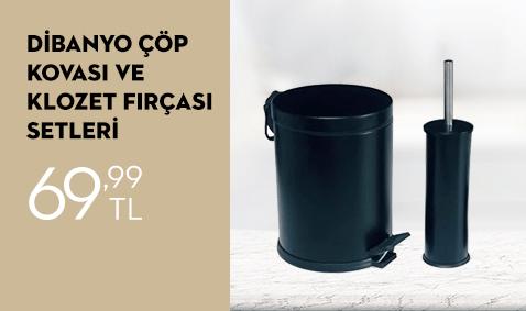 Renkli 5 Lt Çöp Kovası ve Klozet Fırçası Seti 69,99 TL