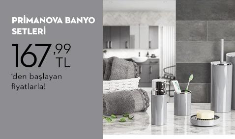 Primanova Banyo Setleri 167,99 TL'den Başlayan Fiyatlarla