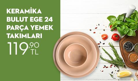 Keramika Bulut Ege 24 Parça Yemek Takımları 119,90 TL