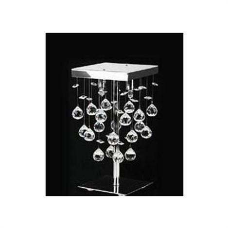 Resim  Kristal Taşlı Modern Masa Lambası