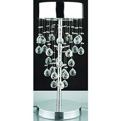 Kristal Taşlı Modern Masa Lambası